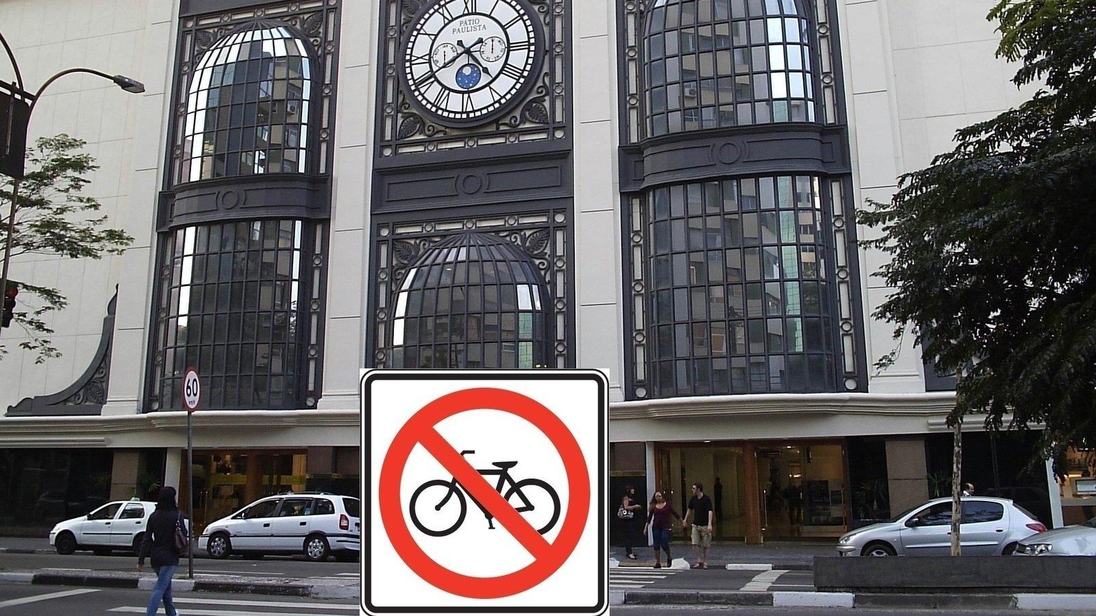 Shopping Pátio Paulista: Quero acesso seguro para ciclistas. Chega de correr risco na entrada do shopping!