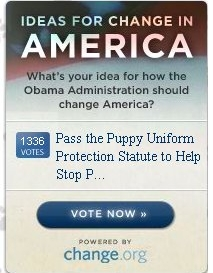 Tell President-Elect Obama to Help Puppies in America!