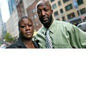 Tracy Martin and Sybrina Fulton with Change for Trayvon