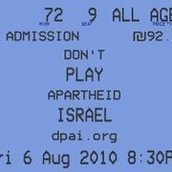 Don't Play Apartheid Israel