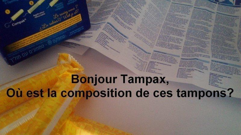 Bonjour Tampax, où est la composition de ces tampons ?