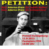 Kein Adorno Preis für die Anti-Semitin Judith Butler