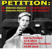 No Adorno  Award for Anti-Semite Judith Butler
